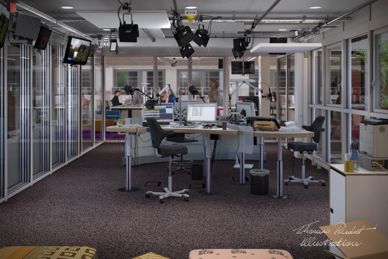 3d, interior visualisierung, technik, radio,