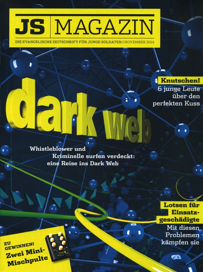 Magazin-Cover mit Illustration